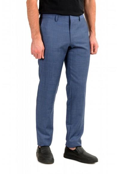 "Hugo Boss Men's ""Genius5"" Slim Fit Blue 100% Wool Flat Front Pants: Picture 2"