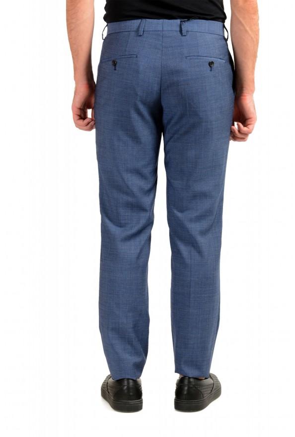 "Hugo Boss Men's ""Genius5"" Slim Fit Blue 100% Wool Flat Front Pants: Picture 3"