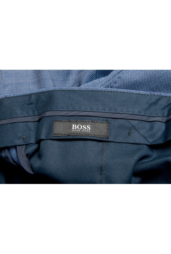 "Hugo Boss Men's ""Genius5"" Slim Fit Blue 100% Wool Flat Front Pants: Picture 5"