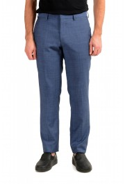 "Hugo Boss Men's ""Genius5"" Slim Fit Blue 100% Wool Flat Front Pants"