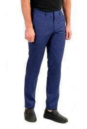 "Hugo Boss Men's ""Ben2"" Slim Fit Blue 100% Wool Flat Front Pants : Picture 2"