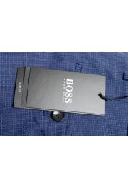 "Hugo Boss Men's ""Ben2"" Slim Fit Blue 100% Wool Flat Front Pants : Picture 4"