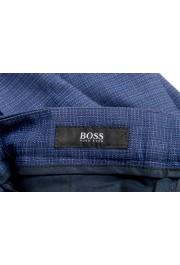 "Hugo Boss Men's ""Ben2"" Slim Fit Blue 100% Wool Flat Front Pants : Picture 5"