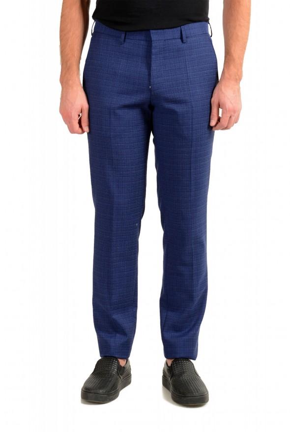 "Hugo Boss Men's ""Ben2"" Slim Fit Blue 100% Wool Flat Front Pants"