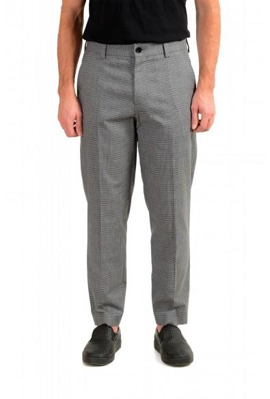 "Hugo Boss Men's ""Perin3"" Gray Plaid Pants"