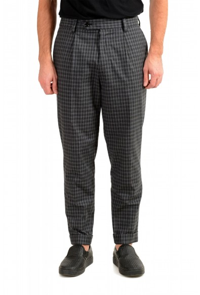 "Hugo Boss Men's ""Porte"" Gray Plaid Pants"