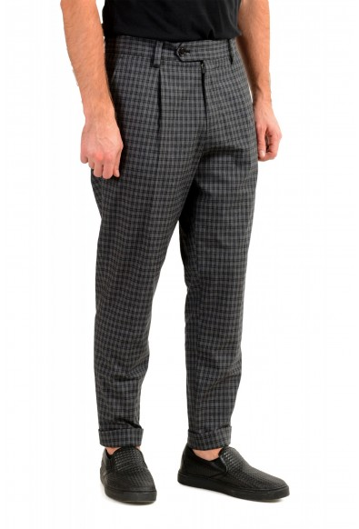 "Hugo Boss Men's ""Porte"" Gray Plaid Pants : Picture 2"