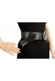 Just Cavalli Women's Black Leather Buckle Decorated Belt: Picture 5