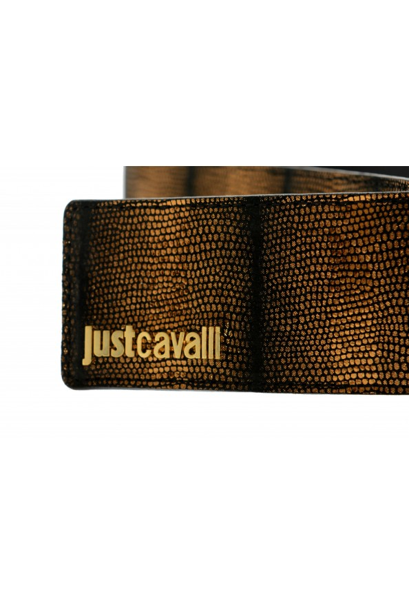 Just Cavalli Women's 100% Textured Leather Buckle Decorated Belt: Picture 3