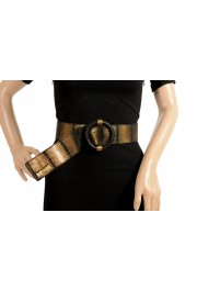 Just Cavalli Women's 100% Textured Leather Buckle Decorated Belt: Picture 6