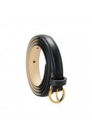 "Hugo Boss Women's ""Bonnie-GSU"" Black 100% Leather Skinny Belt"