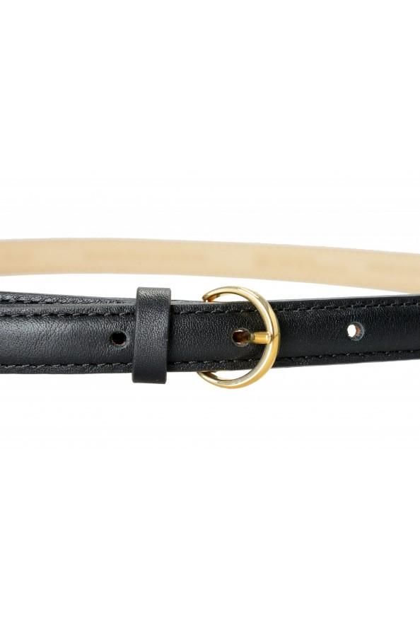 "Hugo Boss Women's ""Bonnie-GSU"" Black 100% Leather Skinny Belt: Picture 3"