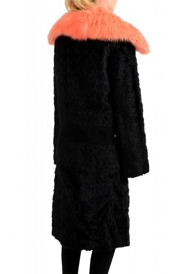 Just Cavalli Women's Wool Alpaca Rabithair Trimmed Collar Coat : Picture 2