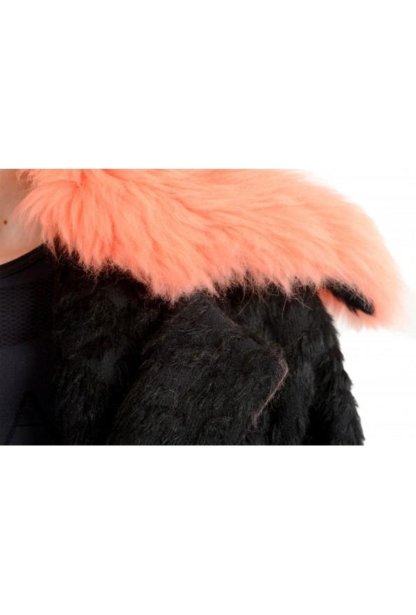 Just Cavalli Women's Wool Alpaca Rabithair Trimmed Collar Coat : Picture 3