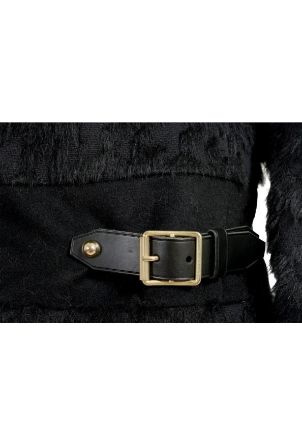 Just Cavalli Women's Wool Alpaca Rabithair Trimmed Collar Coat : Picture 4