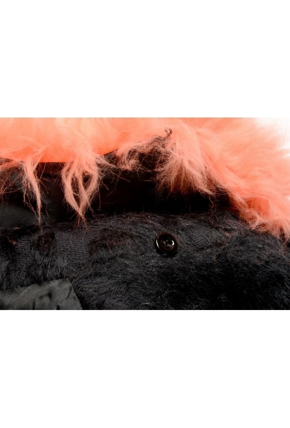 Just Cavalli Women's Wool Alpaca Rabithair Trimmed Collar Coat : Picture 7