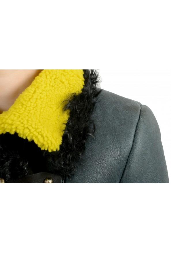 Just Cavalli Women's 100% Lamb Fur Goat Hair Trimmed Shearling Coat : Picture 4