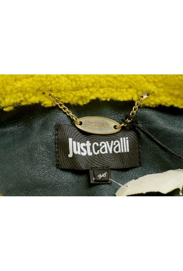 Just Cavalli Women's 100% Lamb Fur Goat Hair Trimmed Shearling Coat : Picture 5