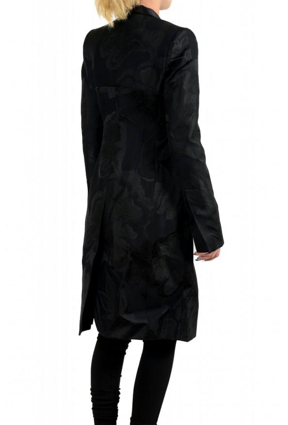Just Cavalli Women's Black Floral Print Button Down Coat : Picture 3