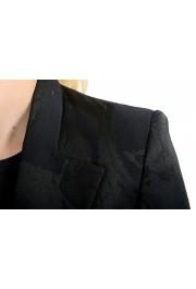 Just Cavalli Women's Black Floral Print Button Down Coat : Picture 4