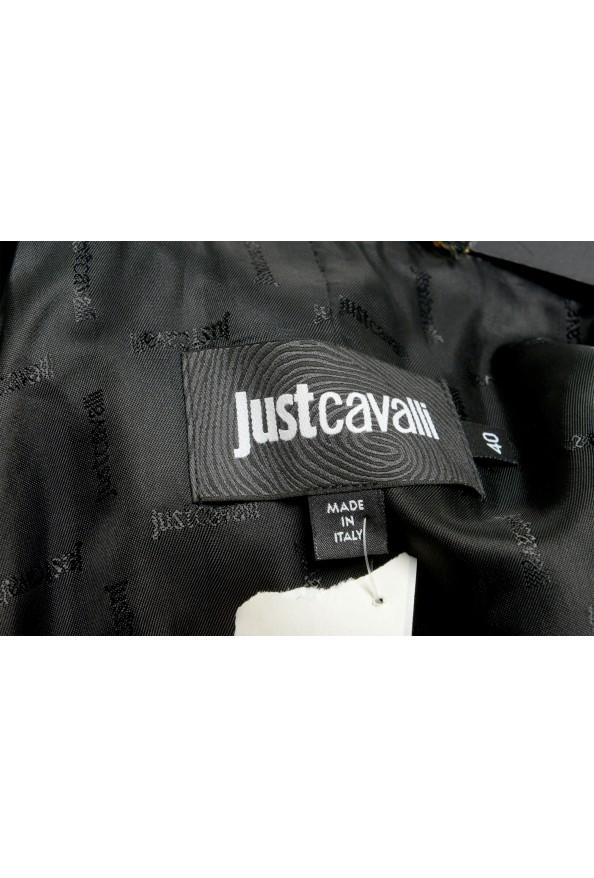 Just Cavalli Women's Black Floral Print Button Down Coat : Picture 5