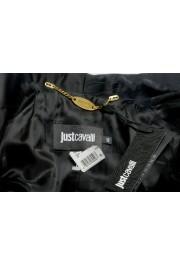 Just Cavalli Women's Black Floral Print Button Down Coat : Picture 6