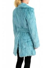 Just Cavalli Women's Blue Belted Mink Fur Coat : Picture 3