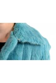 Just Cavalli Women's Blue Belted Mink Fur Coat : Picture 4
