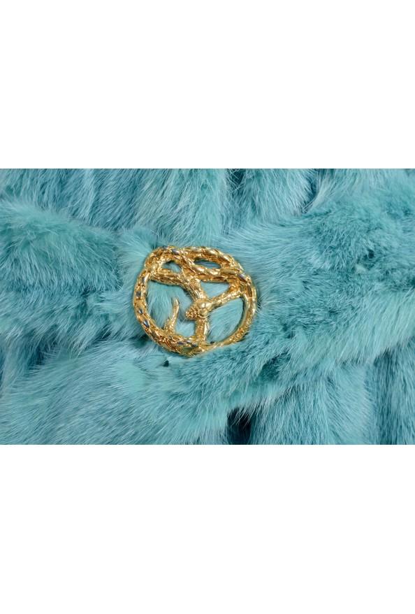 Just Cavalli Women's Blue Belted Mink Fur Coat : Picture 5