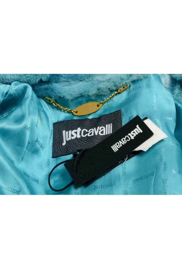Just Cavalli Women's Blue Belted Mink Fur Coat : Picture 7