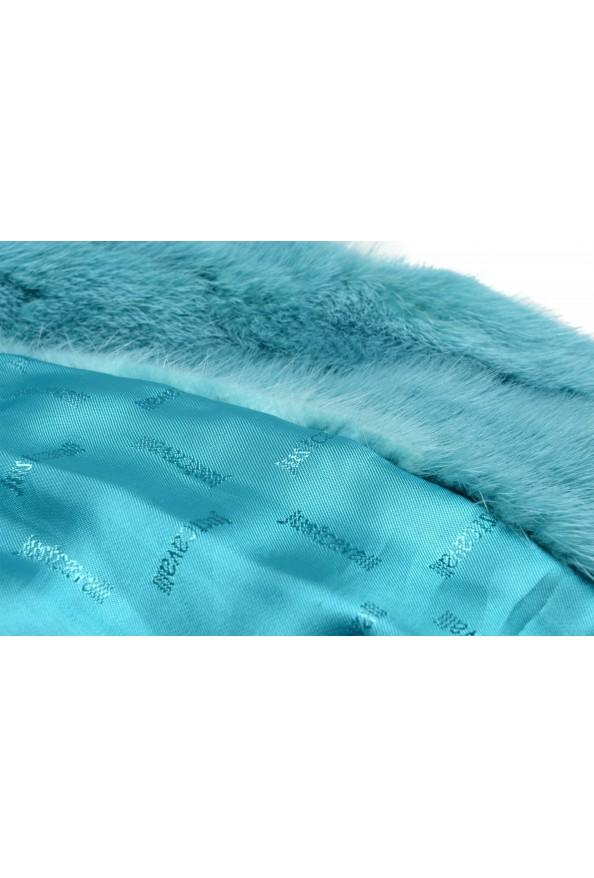 Just Cavalli Women's Blue Belted Mink Fur Coat : Picture 8