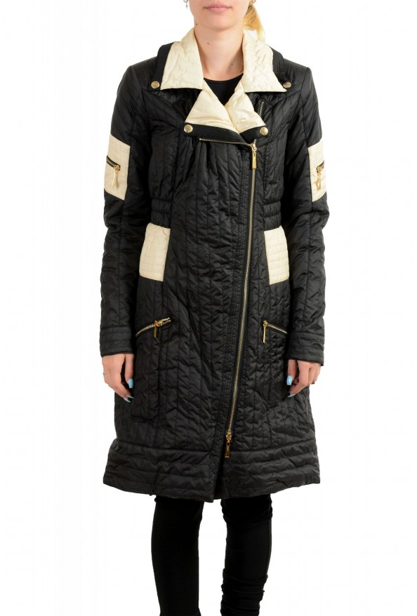 Just Cavalli Women's Multi-Color Lightly Insulated Parka Coat