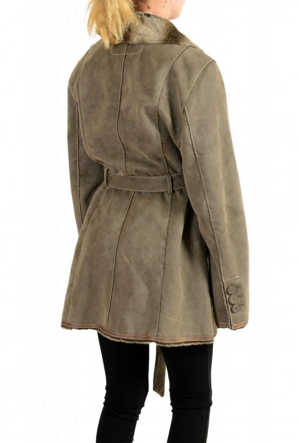 Armani Jeans AJ Women's Gray Faux Fur Shearling Coat: Picture 3