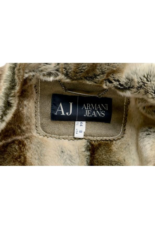 Armani Jeans AJ Women's Gray Faux Fur Shearling Coat: Picture 5