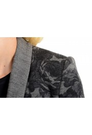 Just Cavalli Women's Gray Floral Print 100% Wool One Button Blazer : Picture 4