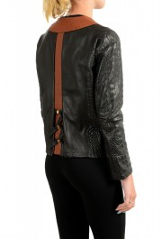 Just Cavalli Women's Perforated 100% Leather Bomber Jacket : Picture 3