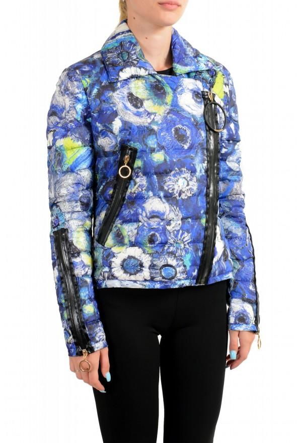 Just Cavalli Women's Multi-Color Floral Print Down Parka Jacket : Picture 2