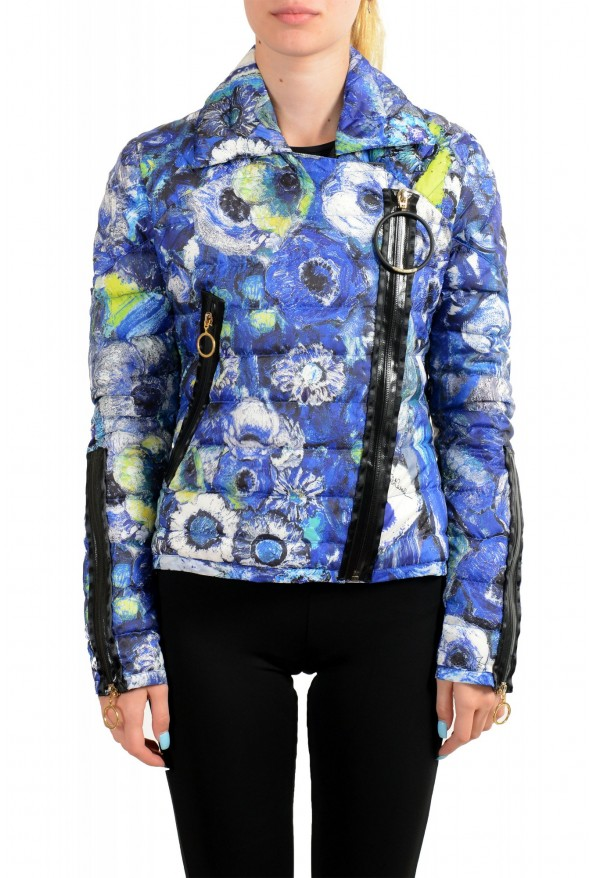 Just Cavalli Women's Multi-Color Floral Print Down Parka Jacket