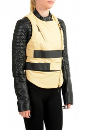 Just Cavalli Women's Two-Tone 100% Leather Bomber Jacket : Picture 2