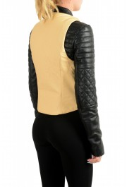 Just Cavalli Women's Two-Tone 100% Leather Bomber Jacket : Picture 3