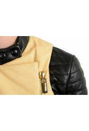 Just Cavalli Women's Two-Tone 100% Leather Bomber Jacket : Picture 4