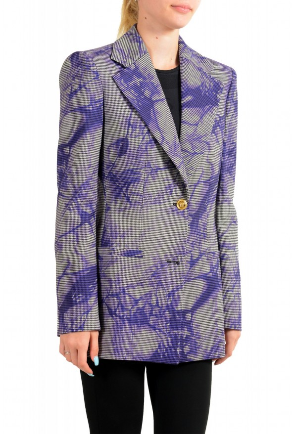 Versace Women's Wool Plaid Two Button Blazer : Picture 2