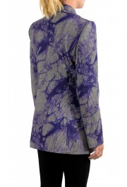Versace Women's Wool Plaid Two Button Blazer : Picture 3