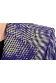 Versace Women's Wool Plaid Two Button Blazer : Picture 4