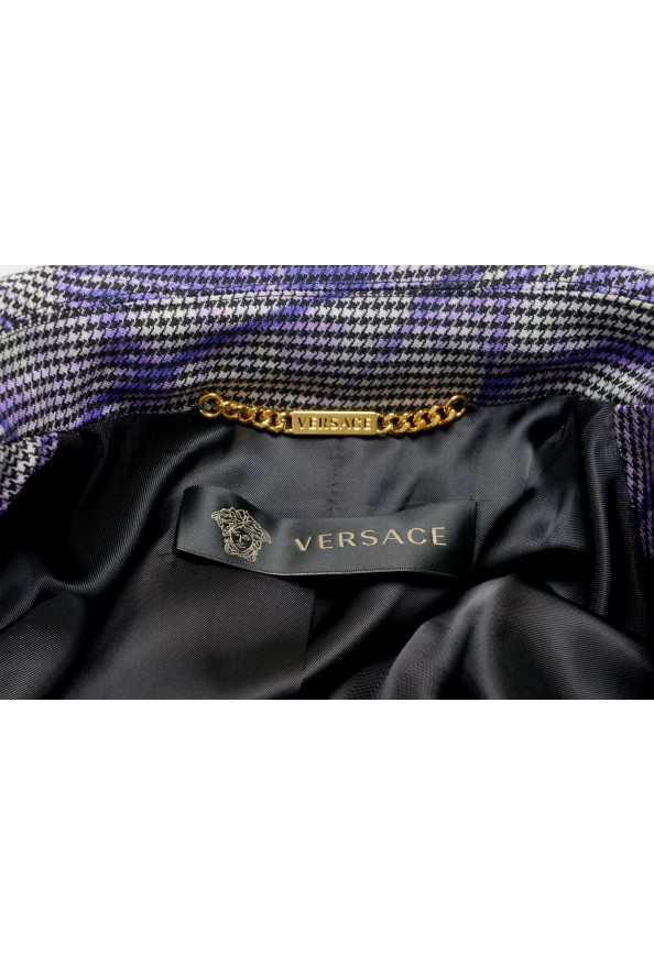 Versace Women's Wool Plaid Two Button Blazer : Picture 5