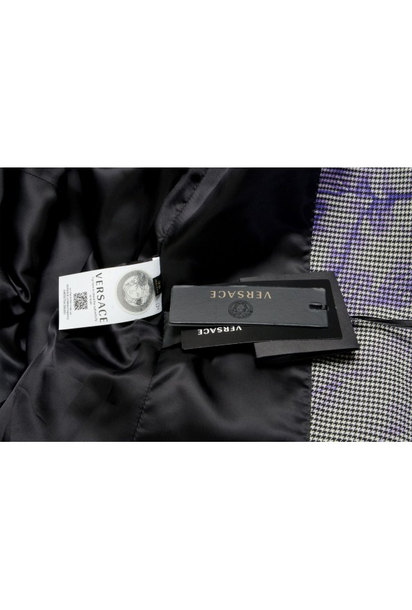 Versace Women's Wool Plaid Two Button Blazer : Picture 6