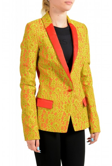 Just Cavalli Women's Lace Two-Tone One Button Blazer: Picture 2