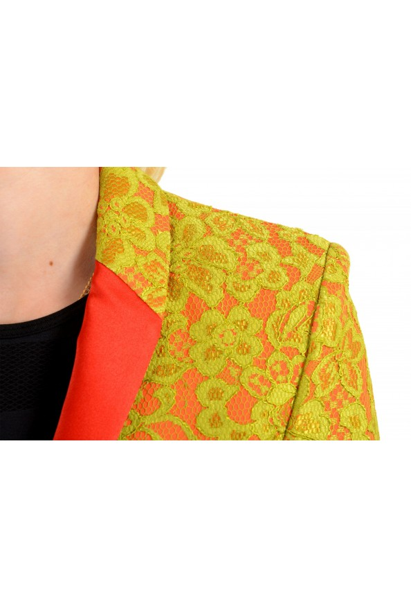 Just Cavalli Women's Lace Two-Tone One Button Blazer: Picture 4