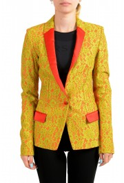Just Cavalli Women's Lace Two-Tone One Button Blazer