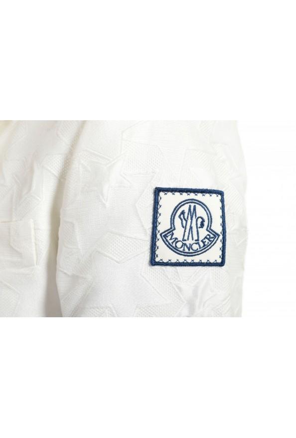 Moncler Women's White Silk Star Print Button Down Blazer: Picture 6